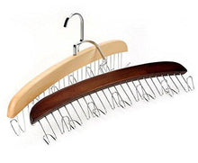 Load image into Gallery viewer, Buy louise maelys wooden 12 hooks tie rack hanger multipurpose closet organizer holds for tie belt scarf