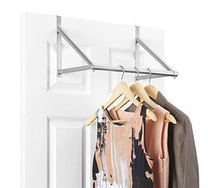 Exclusive whitmor over the door closet rod metal silver epoxy
