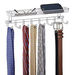 Selection catenus closet wall mount accessory organizer for storage of ties belts watches glasses accessories