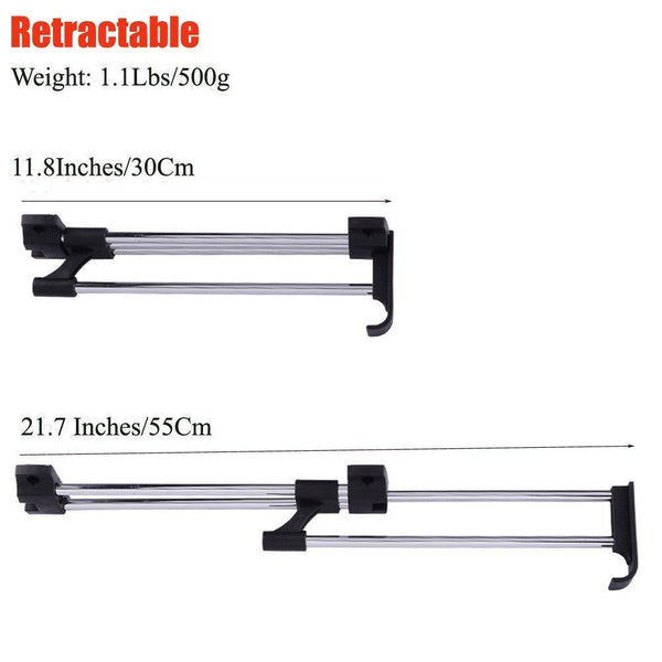 Top rated zjchao heavy duty retractable closet pull out rod wardrobe clothes hanger rail towel ideal for closet organizer polished chrome 30cm 11 8 inches