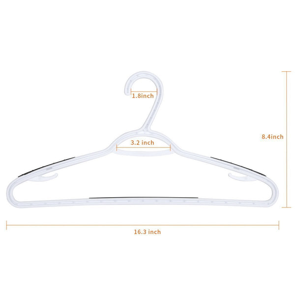 Amazon timmy plastic hangers 40 pack heavy duty clothes hangers with built in grip non slip pads space saving super lightweight organizer for closet wardrobe perfect for blouses shirts and morewhite grey