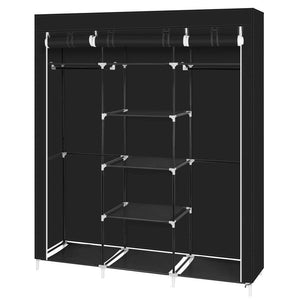 Shop for hello22 69 closet organizer wardrobe closet portable closet shelves closet storage organizer with non woven fabric quick and easy to assemble extra strong and durable extra space