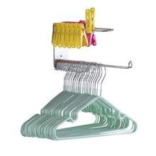 Load image into Gallery viewer, Explore wall mounted clothes hanger organizer stainless steel hanger storage rack closet space saving self adhesive no need nails