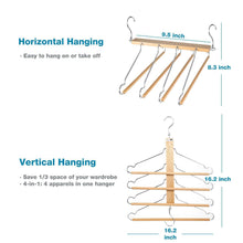 Load image into Gallery viewer, Shop for bestool pants hangers wooden pant hangers non slip wood hangers clothes hangers for closet space saving heavy duty coat hanger huggable baby hangers dual use trouser hanger