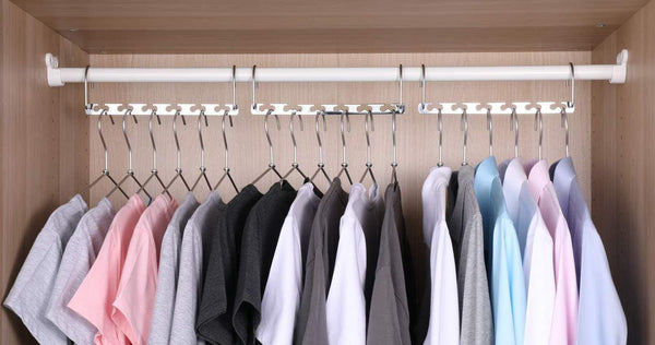 Selection bloberey space saving hangers metal wonder magic cascading hanger 10 inch 6 x 2 slots closet clothing hanger organizers pack of 20