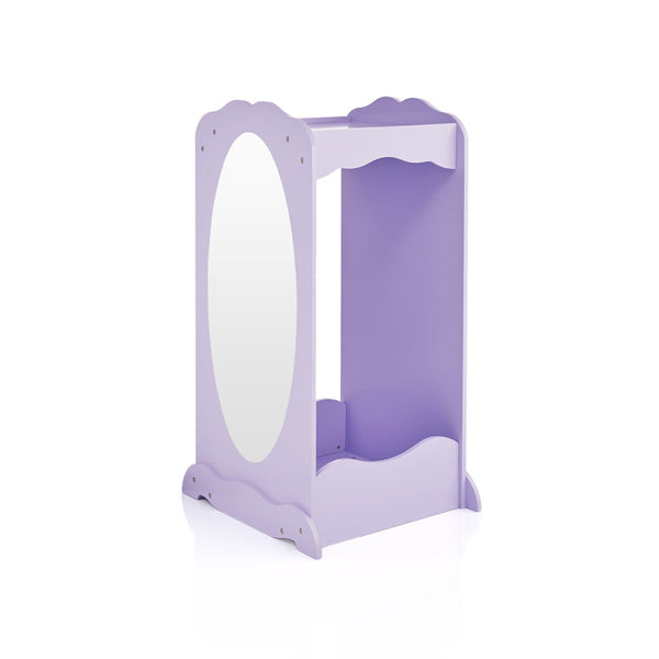 Try guidecraft dress up cubby center lavender kids clothing storage rack costume shoes wardrobe with mirror and side hooks standing closet for toddlers