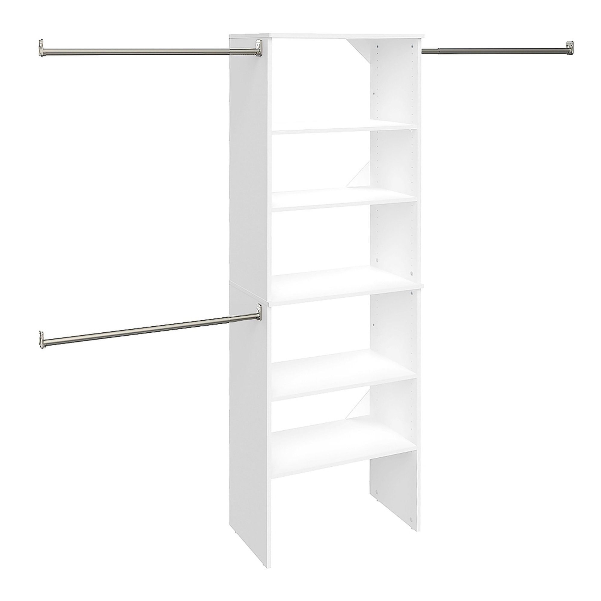 Get closetmaid 24869 suitesymphony 25 inch starter tower kit pure white