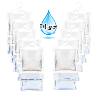 Discover zmfh 10 pack moisture absorber hanging bags no scent max odor eliminator 220g dehumidification bags for closets bathrooms laundry rooms pantries storage