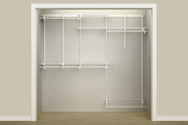 Storage closetmaid 22875 shelftrack 5ft to 8ft adjustable closet organizer kit white