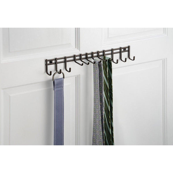 Top interdesign axis wall mount closet organizer rack for ties belts bronze
