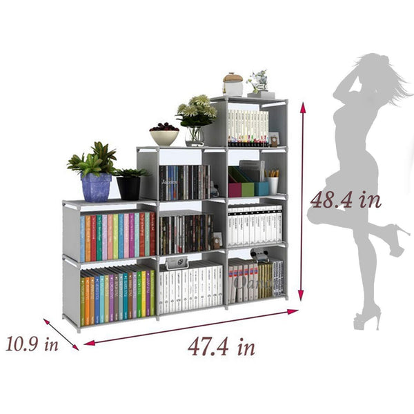 Explore clewiltess 9 cube diy storage bookcase bookshelf for kids home furniture storage shelves closet organizer rack cabinet for bedroom living room office grey