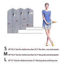 Load image into Gallery viewer, Order now awekris light weight suit bag 3 pack garment bags costume breathable cover for storage and travel with sturdy zipper for dance clothes storage closet