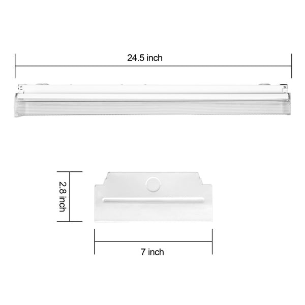 Buy antlux 2ft led wraparound light 20w flush mount led garage shop lights 2400lm 4000k neutral white 2 foot commercial linear ceiling lighting fixture for kitchen laundry workshop closet 4 pack