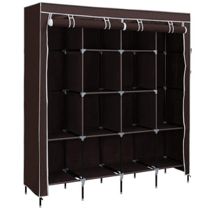Save on songmics 67 inch wardrobe armoire closet clothes storage rack 12 shelves 4 side pockets quick and easy to assemble brown uryg44k