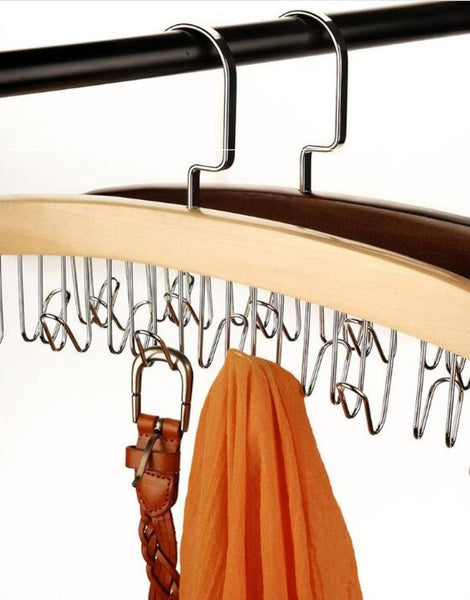 Buy now louise maelys wooden 12 hooks tie rack hanger multipurpose closet organizer holds for tie belt scarf