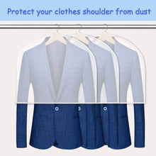Load image into Gallery viewer, Online shopping keegh garment shoulder covers bagset of 12 breathable closet suit organizer prevent clothes shoulder from dust 2 gusset hold more coats jackets dress