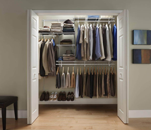 Top rated closetmaid 22875 shelftrack 5ft to 8ft adjustable closet organizer kit white