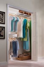 Load image into Gallery viewer, Get ez shelf diy closet organizer kit expandable to 12 2 ft of hanging shelf space white