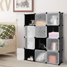 Load image into Gallery viewer, Products tangkula diy storage cubes portable clothes closet wardrobe cabinet bedroom armoire diy storage organizer closet 12 cubes