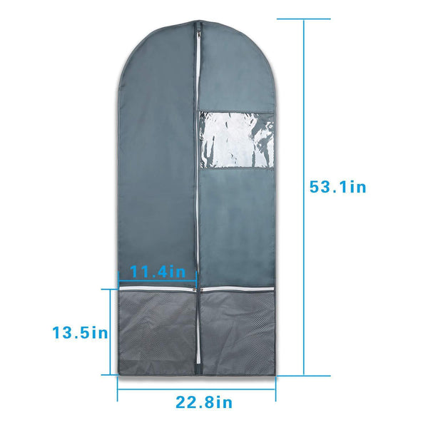 Save garment bag with pockets set dance costume bags 53 x 23 for dance competitions travel storage closet suits dress coat with 2 medium zipper pockets and 1 clear visible window pack of 3