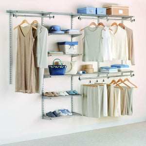 Amazon rubbermaid configurations deluxe custom closet organizer system kit 4 to 8 foot titanium fg3h8900titnm