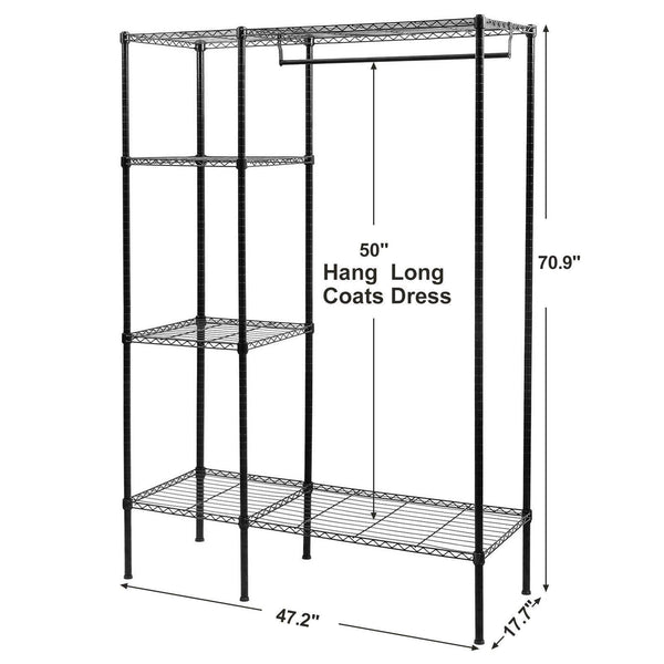 Amazon best songmics extra large shelving garment rack heavy duty portable clothes wardrobe free standing closet storage organizer ulgr12p