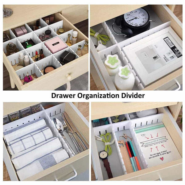 Order now e bayker drawer organizer drawer dividers diy arbitrary splicing sub grid household storage spacer finishing shelves for home tidy closet desk makeup socks underwear scarves 5 7x17 7in 5 pack