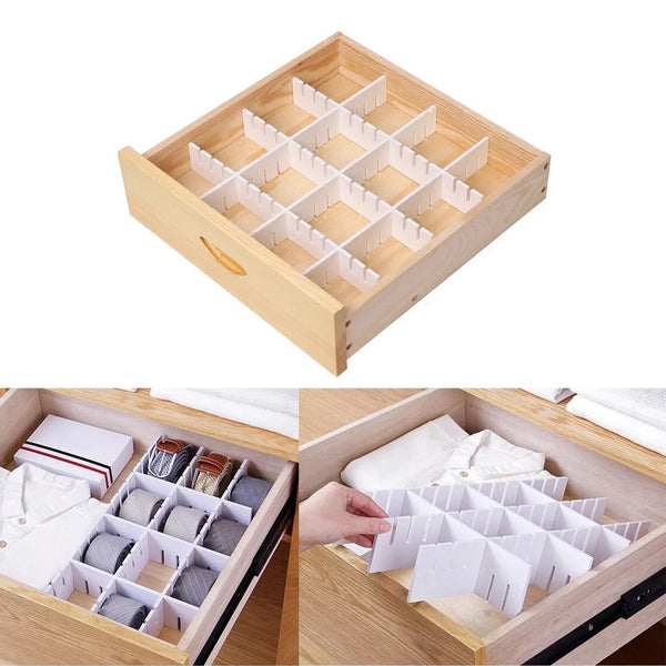 Products e bayker drawer organizer drawer dividers diy arbitrary splicing sub grid household storage spacer finishing shelves for home tidy closet desk makeup socks underwear scarves 5 7x17 7in 5 pack