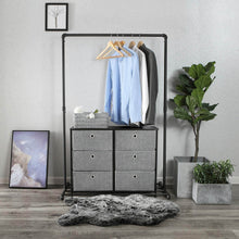 Load image into Gallery viewer, New songmics 3 tier wide dresser storage unit with 6 easy pull fabric drawers metal frame and wooden tabletop for closet nursery hallway 31 5 x 11 8 x 24 8 inches gray ults23g