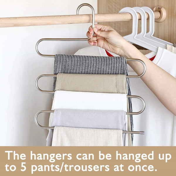 On amazon granny says 4 pack s type magic pants hanger closet clothing organizer