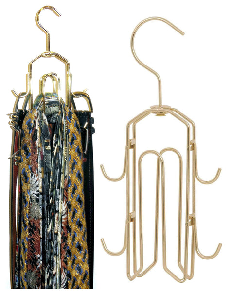 Budget friendly bt hanger tie rack tie holder tie hanger belt hook hangers in a closet organizer with non wood racks hold ties bow tie for men and mens belts and hanging accessories by rotating swiveling hooks