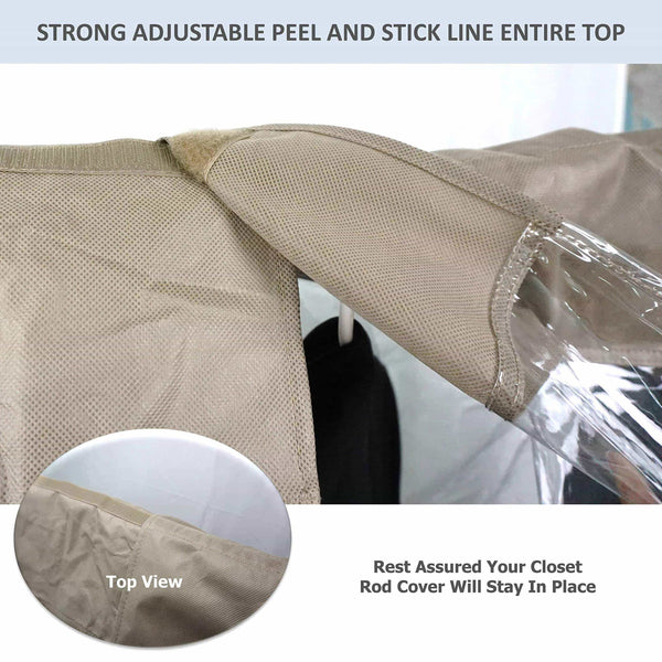The best garment cover for closet rod and portable clothing rack shoulder dust cover protect your wardrobe in style adjustable to fit 26 to 48 long 6 pack