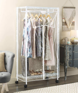 Top whitmor supreme clothes closet clear