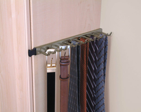 The best closetmaid 38053 14 hook tie belt rack nickel
