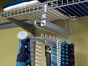 Amazon best closetmaid 78060 sliding tie belt rack for wire shelving satin chrome 1