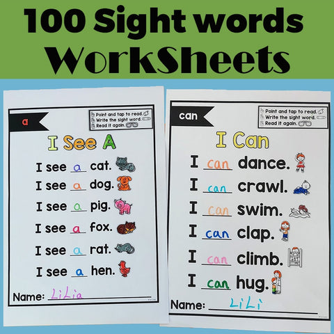 Emergent Sight Word Poems Read Write Children Learning English Workbook Educational Exercise Training Book Kids Educational Toys