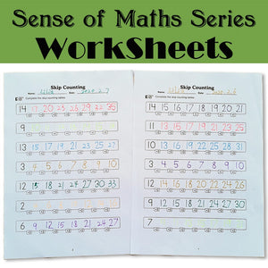 Sense of maths Series Black  White Practice Exercise Paper Preschool Learning English Homework Workbook for Kids Worksheets Toy
