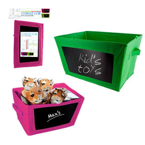 1 Collapsible Storage Bin Toy Box Fabric Closet Organizer Chalkboard Container
