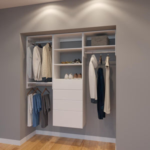 Modular Closets 6 FT Closet Organizer System - 72 inch - Style A