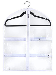 Results small clear dance garment bag 19 inch x 24 inch suit dress and costumes hanging travel storage for clothes shoes and accessories water resistant organizer