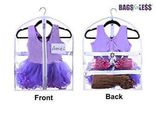 Load image into Gallery viewer, Related small clear dance garment bag 19 inch x 24 inch suit dress and costumes hanging travel storage for clothes shoes and accessories water resistant organizer