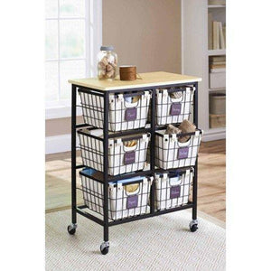 DELUXE Closet Organizer/Cart On Wheels. This Heavy Duty Metal Construction Closet Storage System Has 6 Drawers With Canvas Liners. Top Quality Storage For your Closet, Craft, Office Or Really Anywhere. Store And Organize Anything.