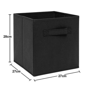 On amazon ximivogue foldable cube storage bin foldable cloth storage cube basket bins boxes organizer containers drawers non lids with handle for nursery home 3 pack black