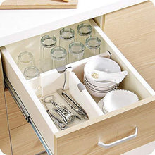 Load image into Gallery viewer, Shop here zixijiaju 3pcs adjustable plastic drawer dividers organizer in home kitchen for clothes in bedroom bathroom storage organizers