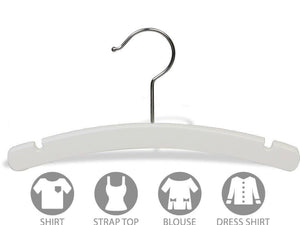 Kitchen the great american hanger company white rounded wooden baby hanger box of 50 10 inch wood top hangers w chrome swivel hook for infant clothes or onesie