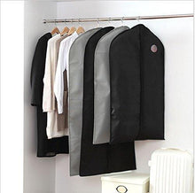 Load image into Gallery viewer, Kitchen garment bags suit bags with clear window for clothes storage and travel hanging suit uniform dance costumes dress and other important garments 3 pack black 128cm x 60cm 50 4x 23 6in