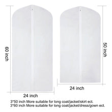 Load image into Gallery viewer, Order now cm cumizon garment bags hanging garment covers for long dresses translucent suit bag set of 6 with full length zipper for dance costumes gown dress clothes storage 24x50 60 inch