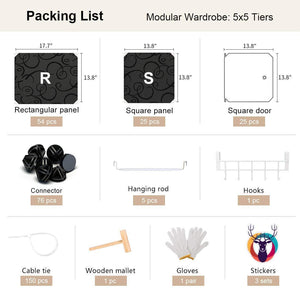 Discover the yozo closet organizer portable wardrobe cloth storage bedroom armoire cube shelving unit dresser cabinet diy furniture black 25 cubes