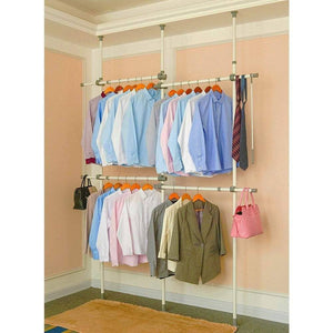 Amazon best garment racks adjustable closet organizer with 440lb load heavy duty hang clothes rack for storage and display 55 x 97 expands to 102 x 119