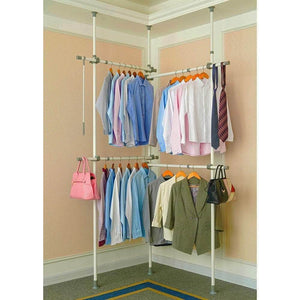 Best seller  garment racks adjustable closet organizer with 440lb load heavy duty hang clothes rack for storage and display 55 x 97 expands to 102 x 119